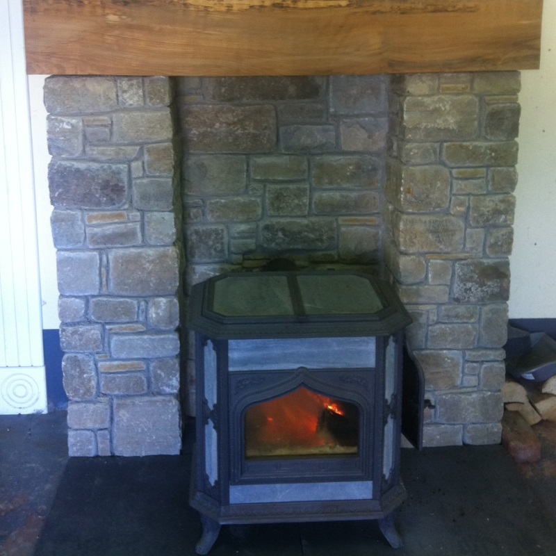 Salvage Stone Fireplace/Stove (Recycled, Reclaimed etc…)   Salvage ... : fireplace etc : Fireplace Design