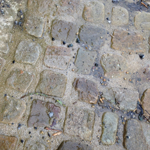 Old Irish Brown Salvage or Reclaimed Cobblestone 6