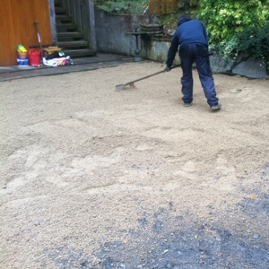Irish Georgian Granite Driveway Holding Dust