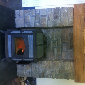 Salvage Stone Fireplace/Stove (Recycled, Reclaimed etc…)
