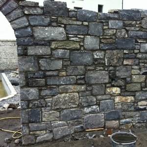 Old Salvage Reclaimed Irish White Limestone Building Stone ( Random Shape )